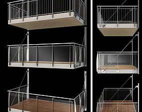 bracket Metal balcony 3D model