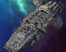 3D SF Modular Spaceship