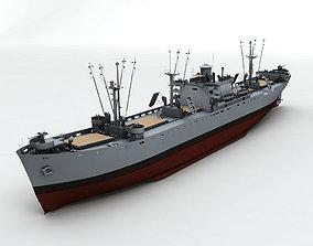 Liberty Ship Cargo Vessel 3D model