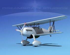 3D model Curtiss P-6E Hawk V00