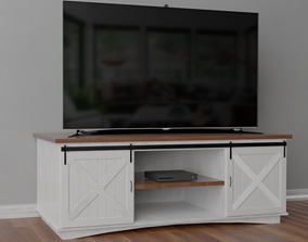 3D RUSTIC TV STAND
