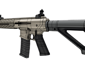 3D asset rigged Warwick Firearms WFA1
