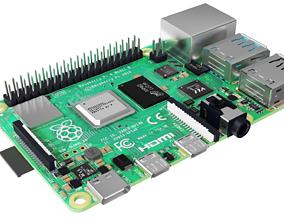 Raspberry pi 4 3D asset VR / AR ready