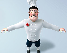 3D model Chef cartoon