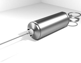 3D model Medical Equipment Syringe