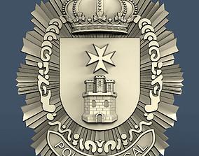 3d STL model for CNC icono de policia