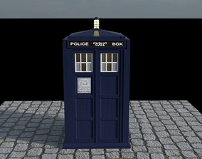 The Tardis Interior and Rigged 3D asset