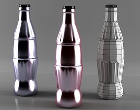 3D model coca cola bottle low