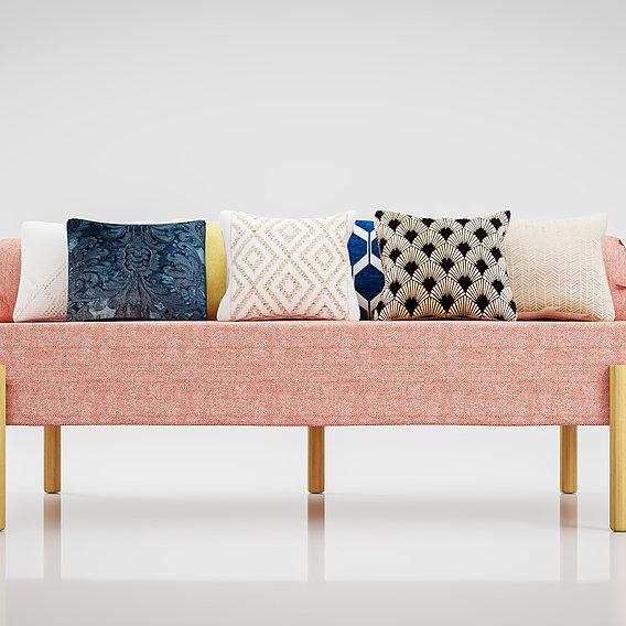 Sofa Athena Makeshift Bed Orange Fabric