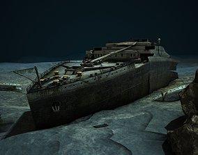 3D asset Titanic Wreck