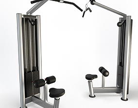 3D GYm Lat Pull Down