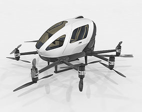 3D Drone Taxi Animated Ehang 216