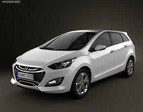 3D model Hyundai i30 Elantra Wagon 2013