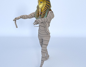 King Tutankhamun Mummy - Game Ready 3D model