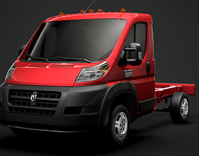 3D Ram Promaster Cargo Chassis Truck Single Cab 3000 WB
