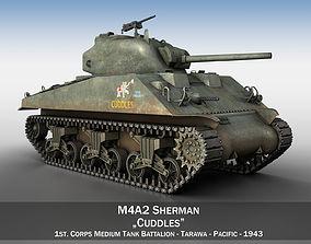 3D model M4A2 Sherman - Cuddles