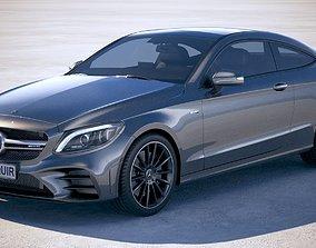 3D model Mercedes C-class AMG Coupe 2019