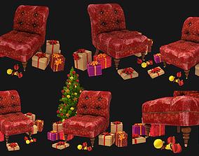 santa chair 3D