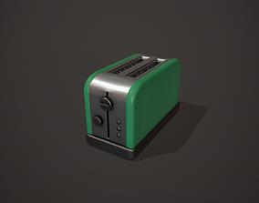 3D model Green Toaster - 2 Slots