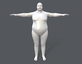 3D asset Middle poly male basemesh - 5