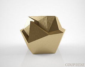 Coup d Etat Kryptonite Brass side table 3D