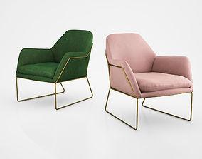 3D model Frame Armchair in Grass Cotton Velvet by Made