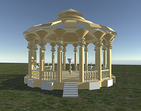streets Rotunda in Gold for parks 3D model