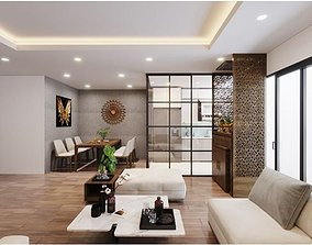 Livingroom and dining 3D