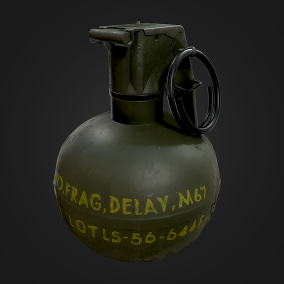 M67 Grenade - Low Poly