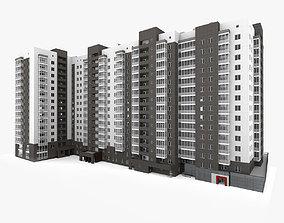 european Residential Building 3D model