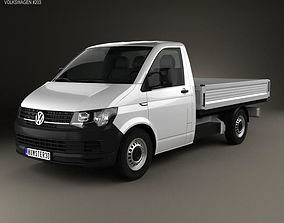 3D model Volkswagen Transporter T6 Single Cab Pickup L2