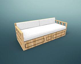 3D model Sofa Otantic Traditional - Sark Kosesi