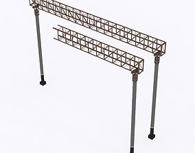3D asset Railway Contact Wire Supports 15m 23m 30m