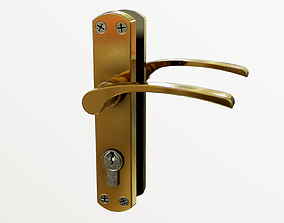 Interior Door Handle 3D model game-ready