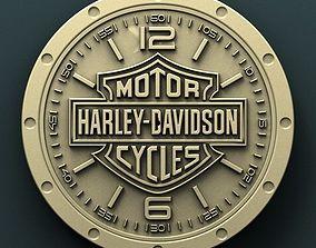Harley Davidson wall clock 3d stl model for
