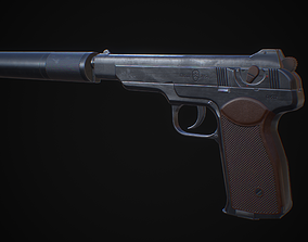 APB - APS Stechkin automatic pistol 3D asset
