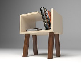 Minimal Coffee Table with Books 3D