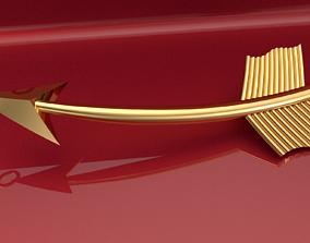 3D printable model arrow earring