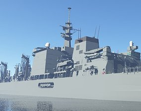 JMSDF Supply ship Mashu 3D model