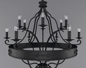wrought iron chandelier 3D model