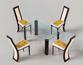 furniture 3D asset low-poly Dining table