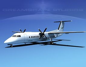 3D model DeHavilland DHC-8-Q300 Wideroe