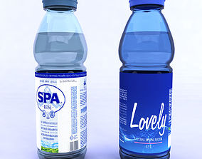 3D Bottles with mineral water