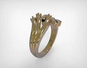 3D printable model Golden Ring Lines Design Jewelry