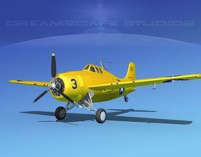 Grumman F4F-3 Wildcat V16 3D