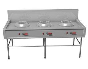 burner 3D Gas stove