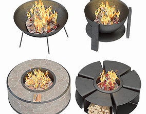 Modern Outdoor Fire Pits 3D