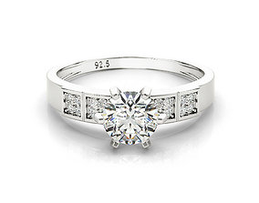 ring cad engagement ring six prongs ring jewelry 3dm file