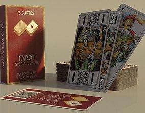 Card Game Tarot Nouveau 3D model