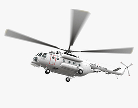Mi-8MTV United Nations Animated 3D asset